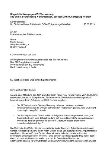 Offener Brief An Frau Lieberknecht Bã¼rgerinitiative Gegen Tiefe