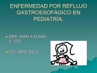 enfermedad por reflujo gastroesofágico en pediatría.