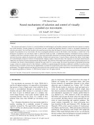 Neural mechanisms of selection and control of visually guided eye ...