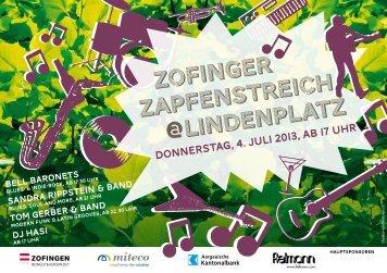 Zofinger Zapfenstreich @Lindenplatz