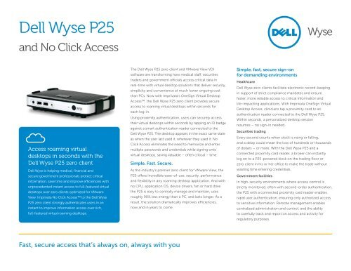 Dell Wyse P25 and No Click Access - Wyse Technology