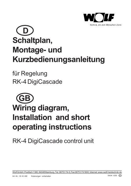 Schaltplan / Wiring diagram - Wolf on