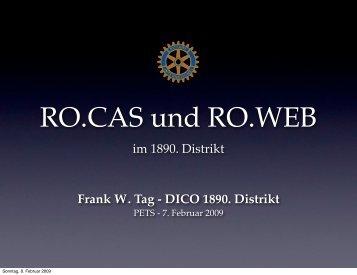 Was ist RO.CAS? - Distrikt 1890