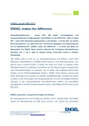 ENGEL makes the difference - Engel Austria