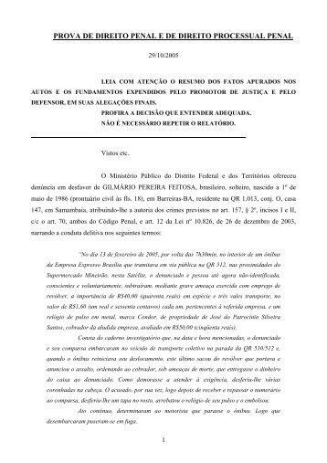 prova de direito penal e de direito processual penal - Concursos ...