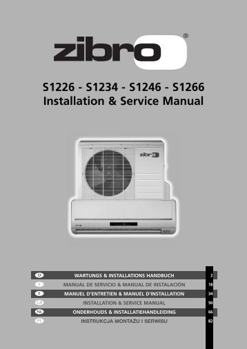S1226 - S1234 - S1246 - S1266 Installation & Service Manual