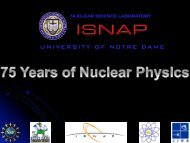 Nuclear Science Laboratory @ Notre Dame - ISNAP - University of ...