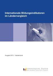 Internationale Bildungsindikatoren im Ländervergleich 2012