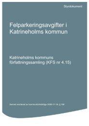 Felparkeringsavgifter - Katrineholms kommun