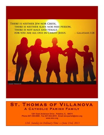 Jun 23, 2013 - St. Thomas of Villanova