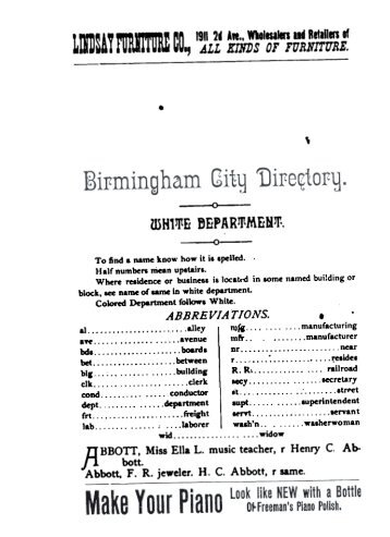 Birmingham City Directory, 1886, A-Musgrove - Tracking Your Roots