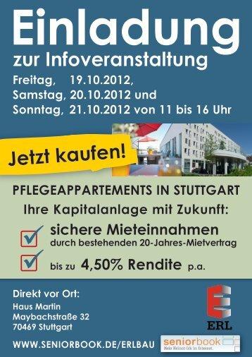 Pflegeappartements in Stuttgart - ERL-BAU Gmbh & Co. KG