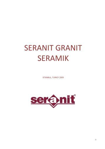 SERANIT GRANIT SERAMIK - CreationsOmni.com