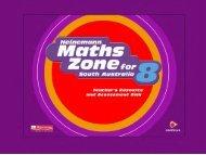 Screen shots for Heinemann Maths Zone SA 8 TRAD