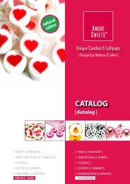 AMORE SWEETS - CATALOG: handmade Rock Sweets and Rock Lollipops - CONFECTIONERY - SÜßWAREN