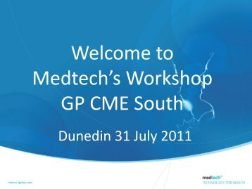 Medtech CME South wo.. - General Practice Conference & Medical ...