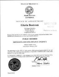 Gloria Bostrom > - Minnesota Senate