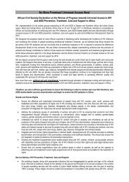 African CSO Position Paper on Universal Access - SAfAIDS