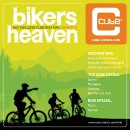 DESTINATIONS THE CUBE HOTELS BIKE SPECIAL