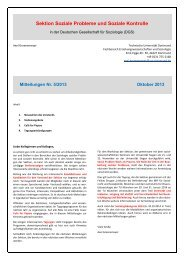 Mitteilungen der Sektion 5/2013 - Sektion Soziale Probleme und ...