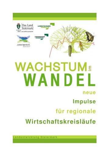 Folder Wachstum im Wandel - Landentwicklung - Steiermark