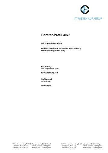 Berater-Profil 3073 - R+K Unternehmensberatung GmbH