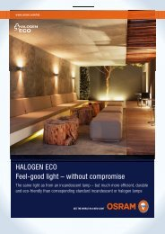 HALOGEN ECO Feel-good light – without compromise