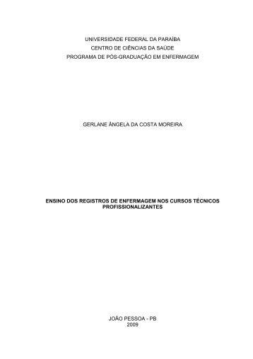 Ler Dissertação - CCS - Universidade Federal da Paraíba