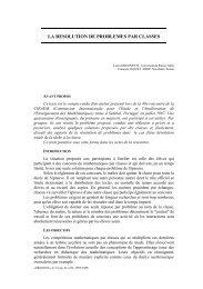 la resolution de problemes par classes - IREM de Grenoble