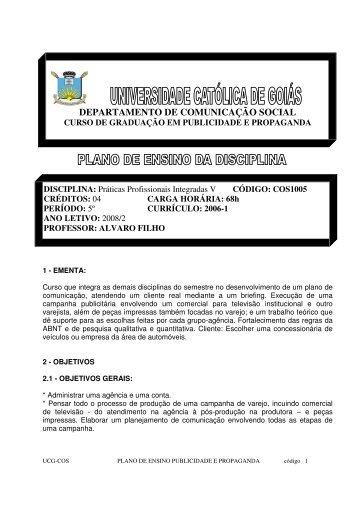 Praticas V - Área Administrativa Docente - Ucg