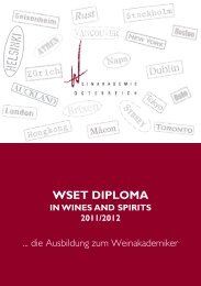 Diploma in Wines and Spirits - Weinakademie Österreich
