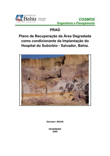 COSMOS PRAD Plano de Recuperação da Área Degradada - Sesab