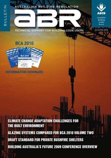 BCA 2010 - ABCB - Australian Building Codes Board
