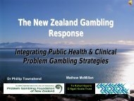 The New Zealand gambling model - European Association for the ...