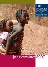 jaarverslag 2007 - The Hunger Project