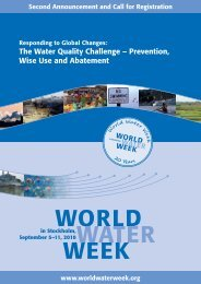 The Water Quality Challenge – Prevention, Wise Use and Abatement