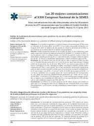 Las 20 mejores comunicaciones al XXIII Congreso ... - SEMES Madrid
