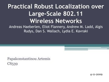 Practical Robust Localization over Large-Scale 802.11 Wireless ...