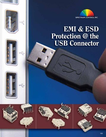EMI & ESD Protection @ the USB Connector - Spectrum Control