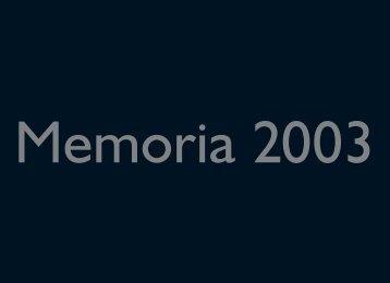 Memoria 2003 - Agencia Española de Protección de Datos