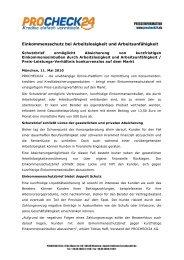 Allfinanzportal MoneyWorld launcht neuartigen ... - procheck24.de