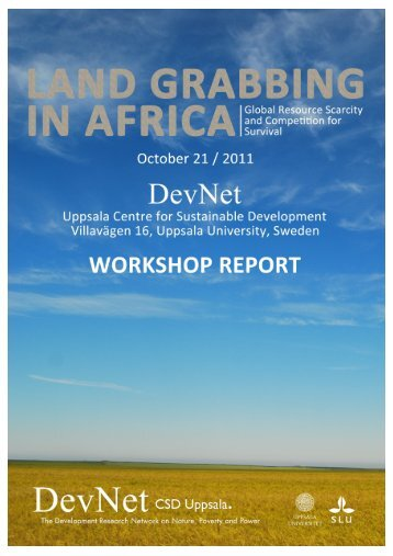 Download the workshop report here, with summaries ... - CSD Uppsala