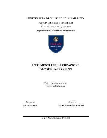 STRUMENTI PER LA CREAZIONE DI CORSI E-LEARNING