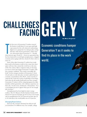 Challenges FaCing gen Y - Philippine Institute for Supply ...