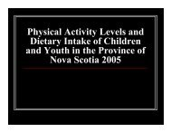 PACY 2005 Presentation - Government of Nova Scotia