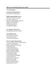 2012 Long Service Award Recipients - Government of Nova Scotia