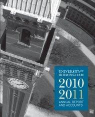 Year Ended 2011 - University of Birmingham