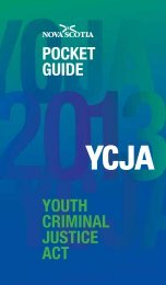 YCJA Pocket Guide - Government of Nova Scotia