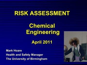 Chemical Engineering (PDF 1MB) - University of Birmingham