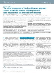 The active management of risk in multiparous pregnancy at term